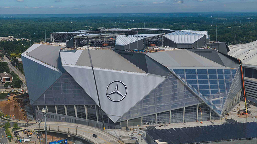 mercedes-benz stadium, designboom