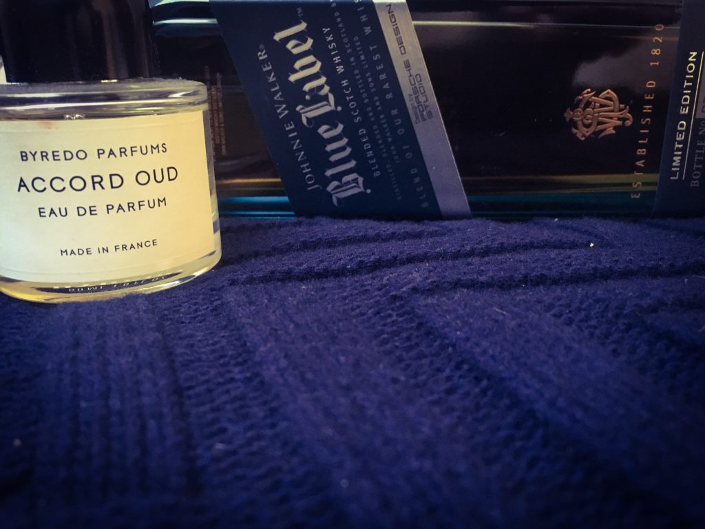 gentlemens journey, männer-duft, johnnie walker blue label, byredo, byredo accord oud