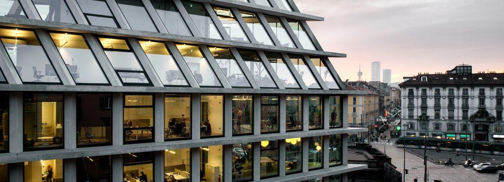büros, microsoft italia, feltrinelli building, herzog & de meuron