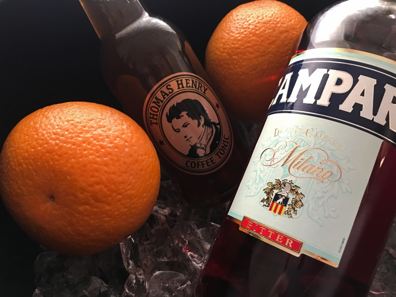 thomas henri coffee tonic filler campari