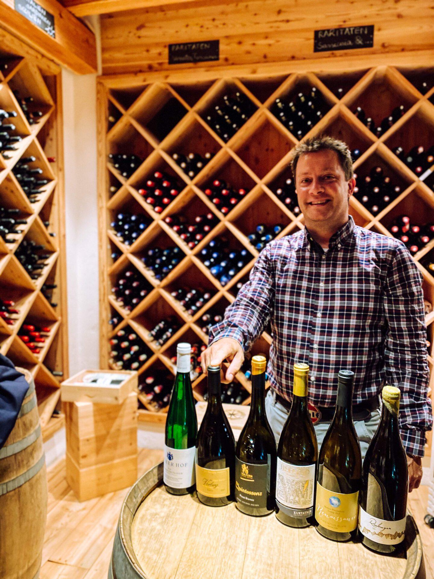 Vinum Hotel Ansitz Plantitscherhof Meran Südtirol Weinkaufsliste Johannes Gufler