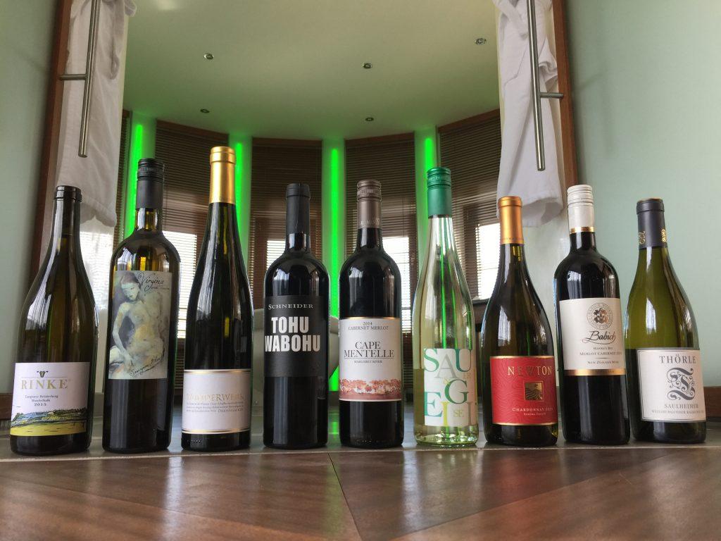 9 Gentleman-Weine von 10 bis 20 Euro