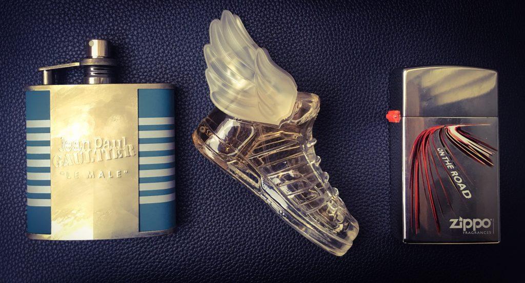 Gentlemens Journey, flakon, design-düfte, parfum, gaultier le male, adidas originals jeremy scott, zopp on the road